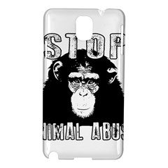 Stop Animal Abuse - Chimpanzee  Samsung Galaxy Note 3 N9005 Hardshell Case
