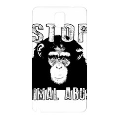 Stop Animal Abuse - Chimpanzee  Samsung Galaxy Note 3 N9005 Hardshell Back Case