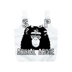 Stop Animal Abuse - Chimpanzee  Full Print Recycle Bags (S)