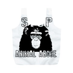 Stop Animal Abuse - Chimpanzee  Full Print Recycle Bags (M)