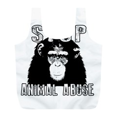 Stop Animal Abuse - Chimpanzee  Full Print Recycle Bags (L)