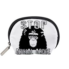 Stop Animal Abuse - Chimpanzee  Accessory Pouches (Small)