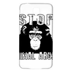 Stop Animal Abuse - Chimpanzee  Samsung Galaxy S5 Back Case (White)