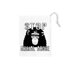 Stop Animal Abuse - Chimpanzee  Drawstring Pouches (Small)