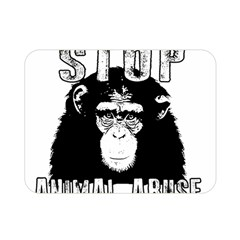 Stop Animal Abuse - Chimpanzee  Double Sided Flano Blanket (Mini)