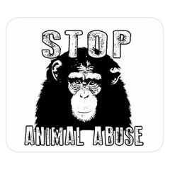 Stop Animal Abuse - Chimpanzee  Double Sided Flano Blanket (Small)