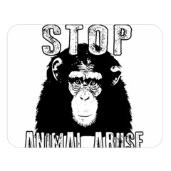 Stop Animal Abuse - Chimpanzee  Double Sided Flano Blanket (Large)