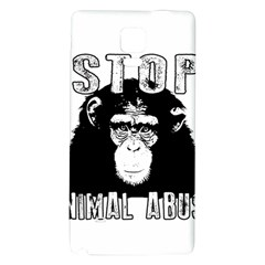 Stop Animal Abuse - Chimpanzee  Galaxy Note 4 Back Case