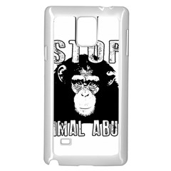 Stop Animal Abuse - Chimpanzee  Samsung Galaxy Note 4 Case (White)