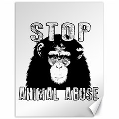 Stop Animal Abuse   Chimpanzee  Canvas 18  X 24   by Valentinaart