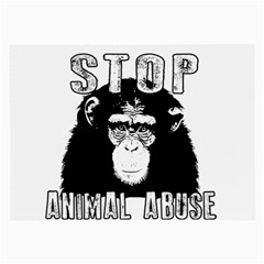Stop Animal Abuse   Chimpanzee  Large Glasses Cloth by Valentinaart