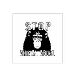 Stop Animal Abuse   Chimpanzee  Satin Bandana Scarf by Valentinaart