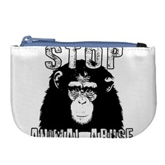 Stop Animal Abuse - Chimpanzee  Large Coin Purse