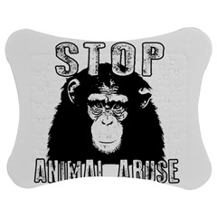 Stop Animal Abuse - Chimpanzee  Jigsaw Puzzle Photo Stand (Bow)
