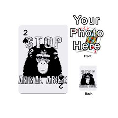 Stop Animal Abuse   Chimpanzee  Playing Cards 54 (mini)  by Valentinaart