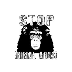 Stop Animal Abuse   Chimpanzee  Shower Curtain 48  X 72  (small)  by Valentinaart