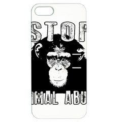 Stop Animal Abuse   Chimpanzee  Apple Iphone 5 Hardshell Case With Stand by Valentinaart