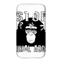Stop Animal Abuse   Chimpanzee  Samsung Galaxy S4 Classic Hardshell Case (pc+silicone)