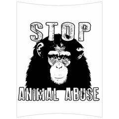 Stop Animal Abuse - Chimpanzee  Back Support Cushion