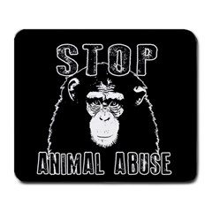 Stop Animal Abuse   Chimpanzee  Large Mousepads by Valentinaart
