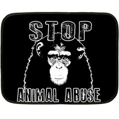 Stop Animal Abuse   Chimpanzee  Double Sided Fleece Blanket (mini)  by Valentinaart
