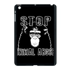 Stop Animal Abuse   Chimpanzee  Apple Ipad Mini Case (black) by Valentinaart