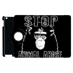 Stop Animal Abuse   Chimpanzee  Apple Ipad 2 Flip 360 Case by Valentinaart
