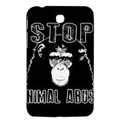 Stop Animal Abuse   Chimpanzee  Samsung Galaxy Tab 3 (7 ) P3200 Hardshell Case  by Valentinaart