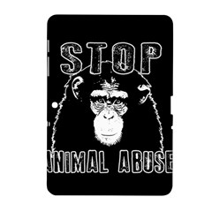 Stop Animal Abuse   Chimpanzee  Samsung Galaxy Tab 2 (10 1 ) P5100 Hardshell Case  by Valentinaart