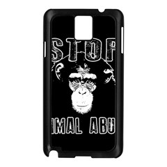 Stop Animal Abuse   Chimpanzee  Samsung Galaxy Note 3 N9005 Case (black) by Valentinaart