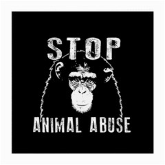 Stop Animal Abuse   Chimpanzee  Medium Glasses Cloth