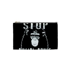 Stop Animal Abuse   Chimpanzee  Cosmetic Bag (small)