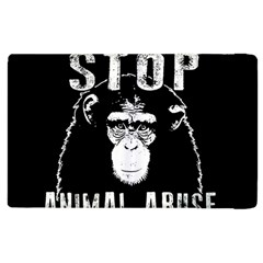 Stop Animal Abuse   Chimpanzee  Apple Ipad 3/4 Flip Case by Valentinaart
