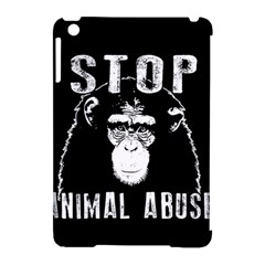 Stop Animal Abuse   Chimpanzee  Apple Ipad Mini Hardshell Case (compatible With Smart Cover) by Valentinaart
