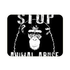 Stop Animal Abuse   Chimpanzee  Double Sided Flano Blanket (mini)  by Valentinaart