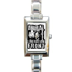 Animal Liberation Front   Chimpanzee  Rectangle Italian Charm Watch by Valentinaart