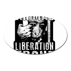 Animal Liberation Front   Chimpanzee  Oval Magnet by Valentinaart