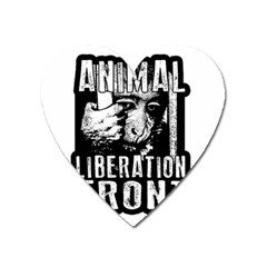Animal Liberation Front   Chimpanzee  Heart Magnet by Valentinaart