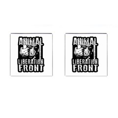 Animal Liberation Front   Chimpanzee  Cufflinks (square) by Valentinaart