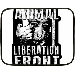 Animal Liberation Front - Chimpanzee  Double Sided Fleece Blanket (mini)  by Valentinaart
