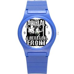 Animal Liberation Front   Chimpanzee  Round Plastic Sport Watch (s) by Valentinaart