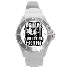 Animal Liberation Front   Chimpanzee  Round Plastic Sport Watch (l) by Valentinaart