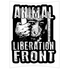 Animal Liberation Front   Chimpanzee  Back Support Cushion by Valentinaart