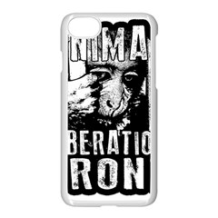 Animal Liberation Front   Chimpanzee  Apple Iphone 8 Seamless Case (white)