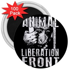 Animal Liberation Front   Chimpanzee  3  Magnets (100 Pack) by Valentinaart