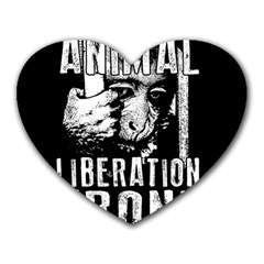 Animal Liberation Front   Chimpanzee  Heart Mousepads by Valentinaart