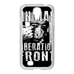 Animal Liberation Front   Chimpanzee  Samsung Galaxy S4 I9500/ I9505 Case (white) by Valentinaart