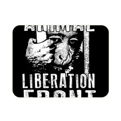 Animal Liberation Front   Chimpanzee  Double Sided Flano Blanket (mini)  by Valentinaart