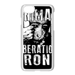Animal Liberation Front   Chimpanzee  Apple Iphone 7 Seamless Case (white)