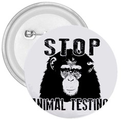 Stop Animal Testing   Chimpanzee  3  Buttons by Valentinaart